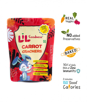 Multigrain Carrot crackers (30g) – Pack of 4