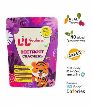 Multigrain Beetroot crackers (30 g) – Pack of 4
